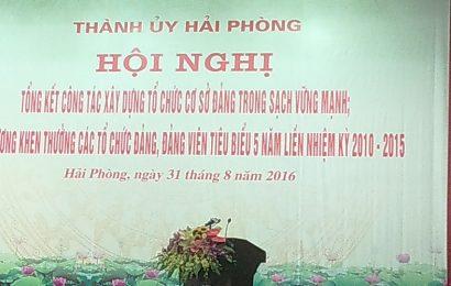 Chi bộ Khoa LLCT nhận Bằng khen Thành uỷ Hải Phòng và Đảng uỷ Trường ĐHHHVN